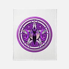 Pentacle of the Purple Goddess Throw Blanket
