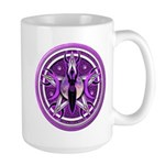 Pentacle of the Purple Goddess Large Mug
