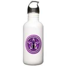 Pentacle of the Purple Goddess Water Bottle