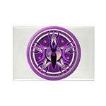 Pentacle of the Purple Goddess Rectangle Magnet