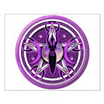 Pentacle of the Purple Goddess Small Poster
