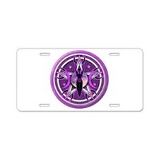 Pentacle of the Purple Goddess Aluminum License Pl