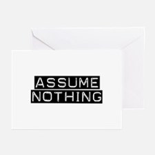 Assume Nothing Greeting Cards (Pk of 10)