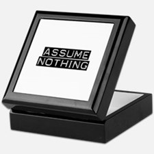 Assume Nothing Keepsake Box