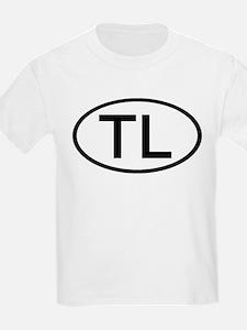 TL - Initial Oval Kids T-Shirt