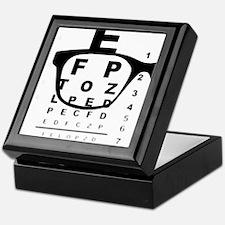 Blurry Eye Test Chart Keepsake Box