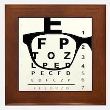 Blurry Eye Test Chart Framed Tile