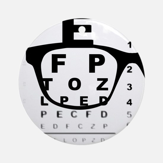 Blurry Eye Test Chart Round Ornament