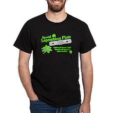 Special Leprechaun Flute Black T-Shirt