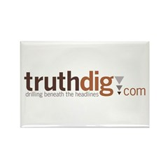 Truthdig Rectangle Magnet