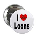 I Love Loons Button