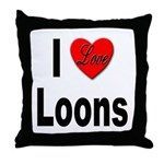 I Love Loons Throw Pillow