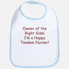 Owner of the Right Tandem Nurser Bib