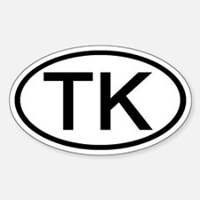 TK - Initial Oval Oval Decal