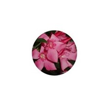 Pink Oleander Mini Button
