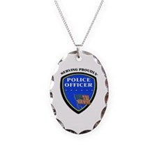 Police Serving Proudly Necklace