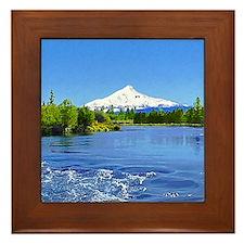 Mt Jefferson Framed Tile