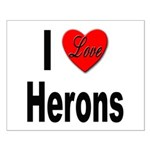 I Love Herons Small Poster