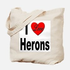I Love Herons Tote Bag
