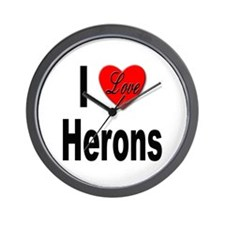 I Love Herons Wall Clock