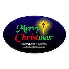 Merry CHRISTmas 3 x 5 Decal