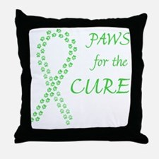 Lime Paws Cure Throw Pillow