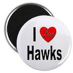I Love Hawks Magnet