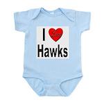 I Love Hawks Infant Creeper