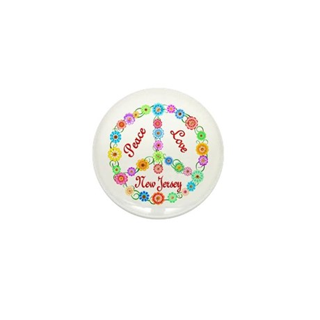 Peace Love New Jersey Mini Button (10 pack)