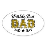 World's Best Dad Sticker (Oval)