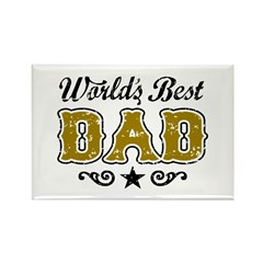 World's Best Dad Rectangle Magnet