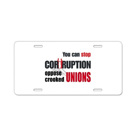 SUPPORT RIGHT TO WORK Aluminum License Plate