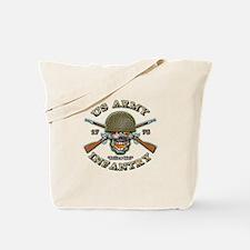 US Army Infantry Skull Tote Bag