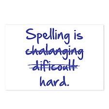 Spelling Is Hard Postcards (Package of 8)