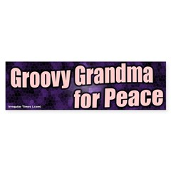 Groovy Grandma for Peace Bumper Bumper Sticker