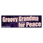 Groovy Grandma for Peace Bumper Sticker