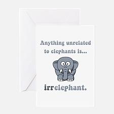 Irrelephant Greeting Card