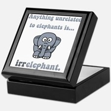 Irrelephant Keepsake Box