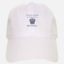 Irrelephant Baseball Baseball Cap