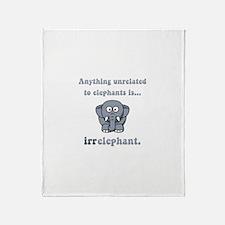 Irrelephant Throw Blanket