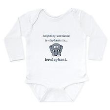Irrelephant Long Sleeve Infant Bodysuit