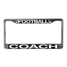 Football Coach License Plate Frame