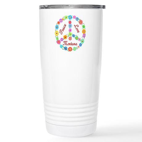 Peace Love Montana Stainless Steel Travel Mug