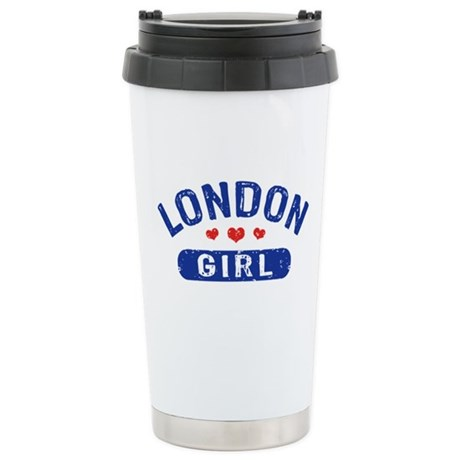 London Girl Stainless Steel Travel Mug