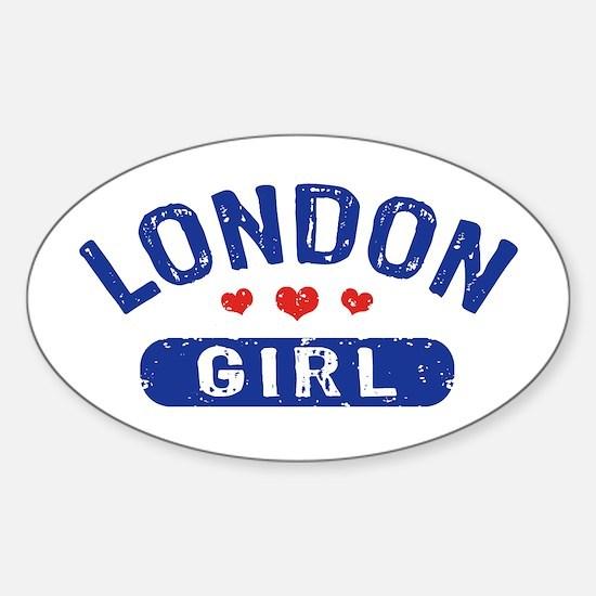 London Girl Sticker (Oval)