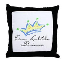 Our Little Prince Throw Pillow