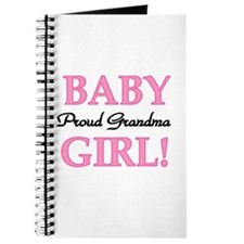 Baby Girl Proud Grandma Journal