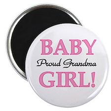 Baby Girl Proud Grandma Magnet
