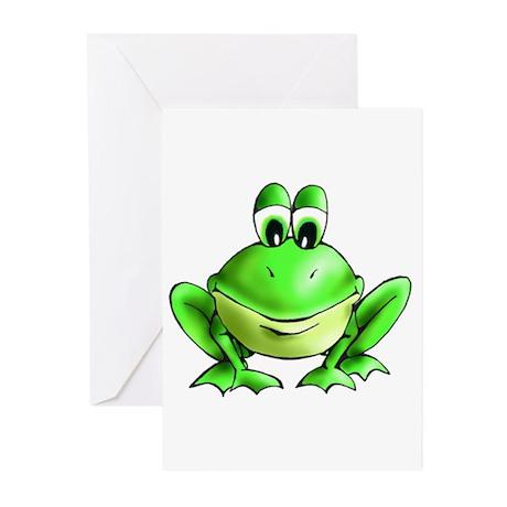 Jeffery Frog Greeting Cards