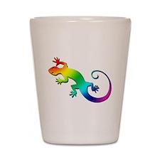 Rainbow Gecko Shot Glass